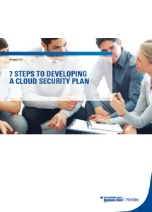 7 Steps to Developing a Cloud Security Plan