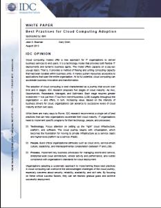 Best Practies for Cloud Computing Adoption