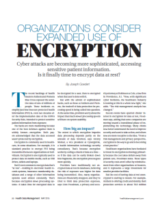 Encrypting Data at Rest