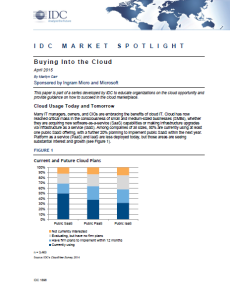 IDC Market Spotlight - Buying Into the Cloud