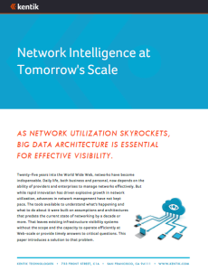 Network Intelligence at Tomorrow's Scale